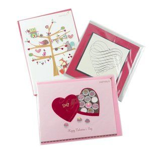 Bundle of 3 Papyrus Valentine's Day Cards